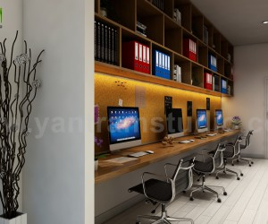 Computer Room Design Ideas by Yantram offices interior designer Milan, Italy