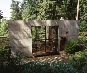 Concrete Cabin for Filmmaker in Seattle