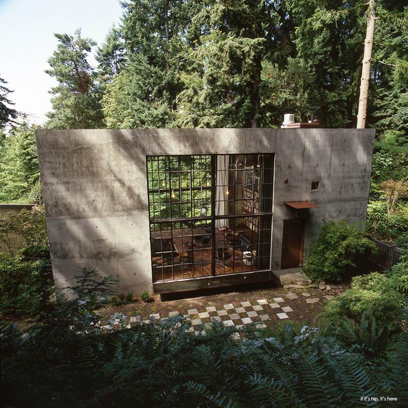 Concrete Cabin For Filmmaker In Seattle