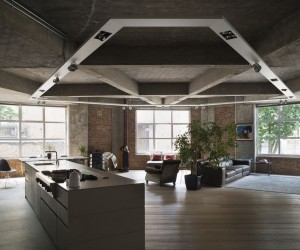 Concrete Charisma: Stunningly Refurbished Modern Industrial London Loft