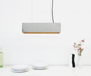 Concrete Pendent Light by GANTlights
