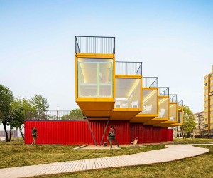 Containers Stack Pavilion by Peoples Architecture Office
