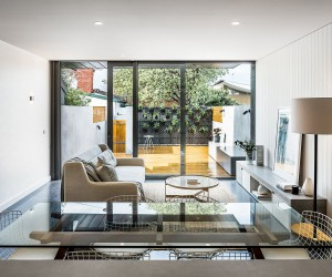 Contemporary Avatar of Terrace Home in Melbourne Flooded with White and Light