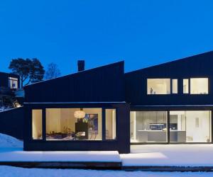 Contemporary Black Wooden House by Bornstein Lyckefors Arkitekter