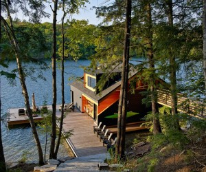 Contemporary Boathouse by Altius Architecture