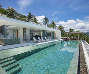 Contemporary Holiday Villa in Koh Samui Offering Spectacular Coastal Views of Thailand