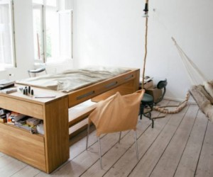 Convertible desk bed from BLESS