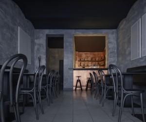 Copper bar by Zavoral Architekt, Litomysl