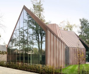 Copper-clad house by Graux  Baeyens Architecten