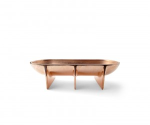 Copper Standing Bowl Large by Fort Standard