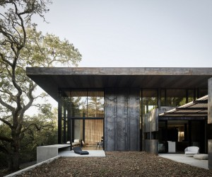 CorTen Steel House in Northern California  Faulkner Architects
