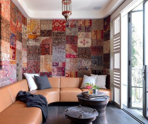 Cost-Effective Colorful Trend: Patchwork Wallpaper Ideas that Delight