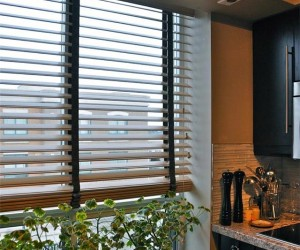 Country Wood Blinds by Night and Day Window Decor