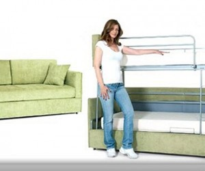 Coupe Sofa : Transform Bunk Bed Into Sofa