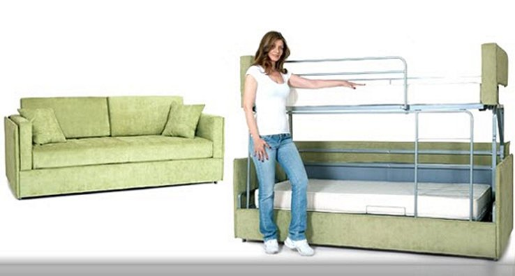 Coupe Sofa Transform Bunk Bed Into Sofa