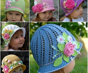 Crochet Panama Hat for Girls with Free Pattern