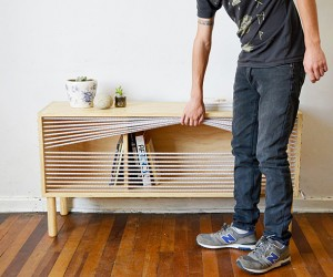 Cuerda: A Boxing Ring Inspired Shelf