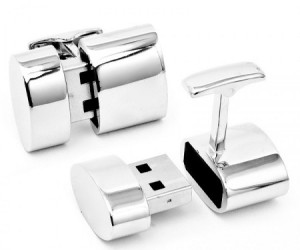 Cufflinks with Wifi Hotspot and 2GB Hard Drive Memory