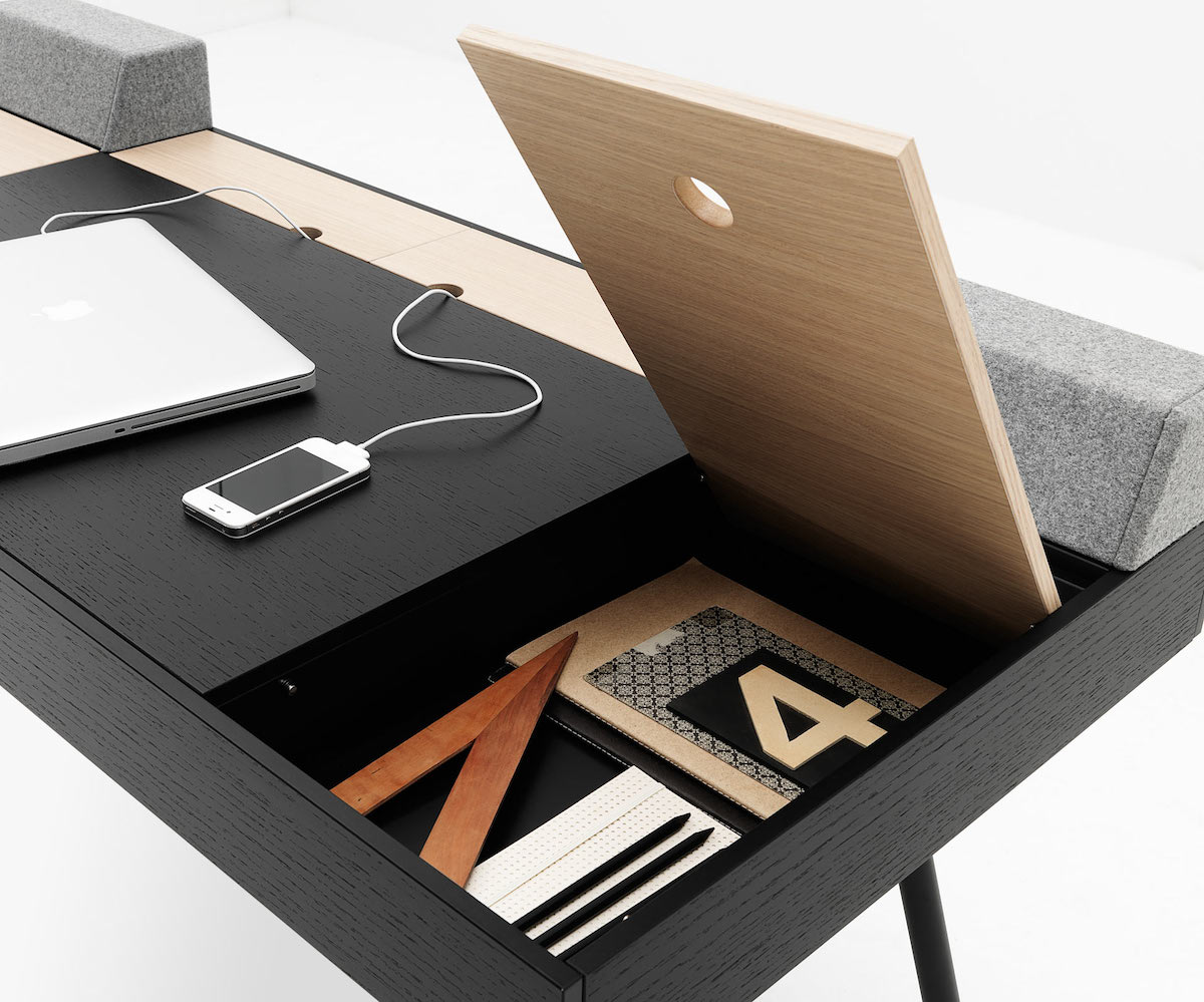 cupertino by boconcept the perfect minimalist desk. Black Bedroom Furniture Sets. Home Design Ideas