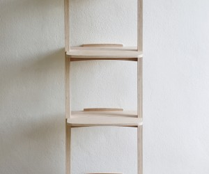 Curve Lean Shelf by Kittipoom Songsiri