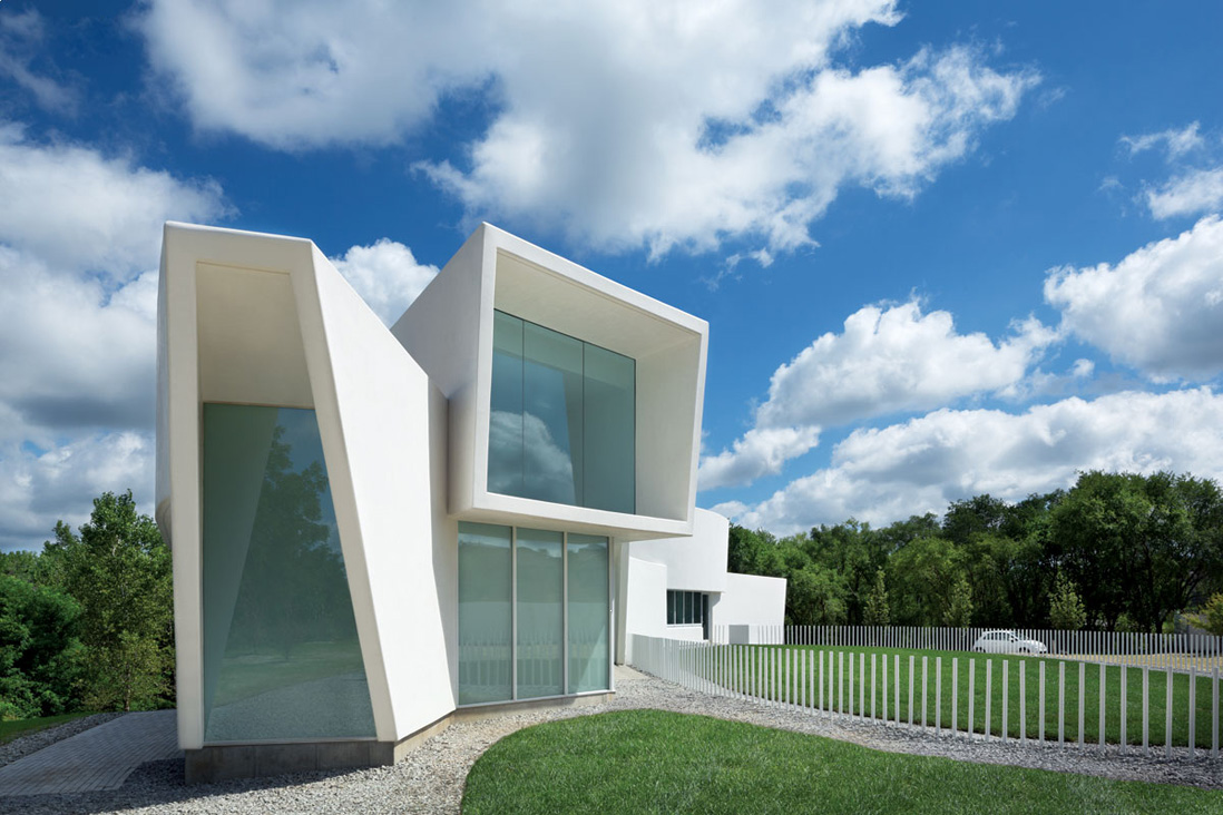 Curved House Near Omaha By Randy Brown