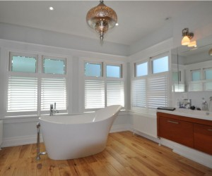 Custom Louvre Shutters with Hidden Tilt Bar