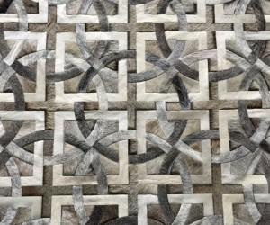 Custom-Made Cowhide Patchwork Rugs