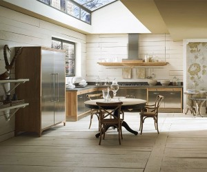 Custom-Made Kitchen gives a Modern Twist to Classic Design