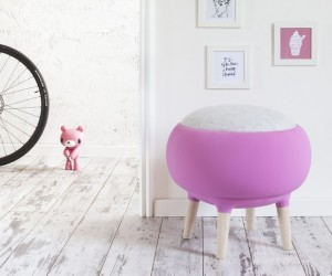 Cute Pouf by Manrico Freda