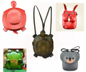 Cute Vintage Animals Leather Bags