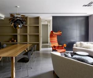 Dark Apartment by Ganna Design