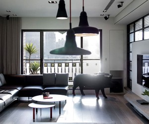 Dark Apartment Design by LGCA DESIGN