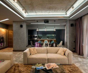 Dark Indulgence: Sophisticated Footballers Apartment in Lviv