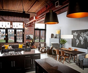 Dashing Urban Loft Uses Contrasting Textures to Create Coherent Style