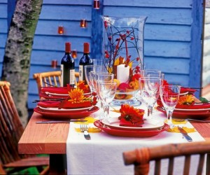 Decorating for Thanksgiving with natural materials