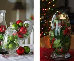 Decorating with Christmas glass jars