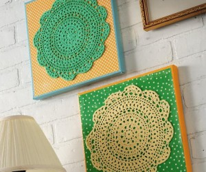 Delicately Crafty: 15 Pretty Things Made With Lace Doilies