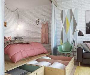 Delightful 45 Square Meters Studio Apartment in Moscow