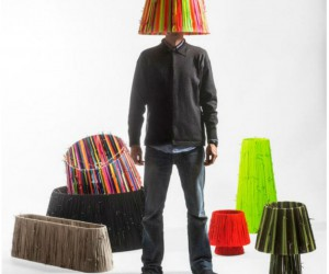 Designers Take To Shoelace Lamp Collection