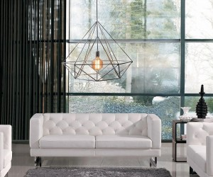 Diamond Pendant Cage Light