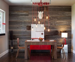 Dining Rooms with Snazzy Striped Accent Walls