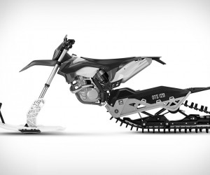 Dirt-to-Snow Bike Conversion System
