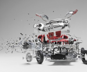 Disintegrating: Exploded Sports Cars by Fabien Oefner