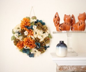 DIY Autumn Floral Hanging