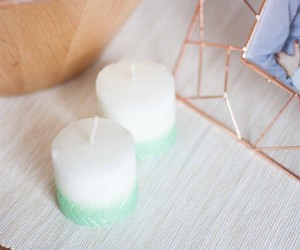DIY Chevron Candles Fall Home Decor