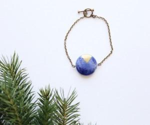 DIY Color Block Stone Bracelet