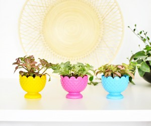 DIY Colorful Votive Planters