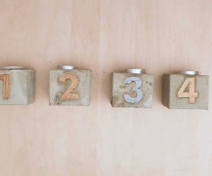 DIY Concrete Advent Candle Holders
