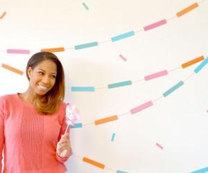DIY Confetti Garland Backdrop