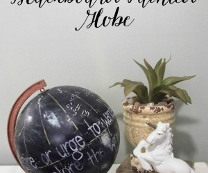 DIY: Copper and Blackboard Painted Globe